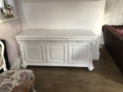 Antique Edwardian solid mahogany buffet sideboard with stunning carved panels
