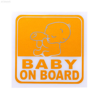 A74B Universal Baby On Board Graphic Car Body Sticker Safety Warning Decals PVC