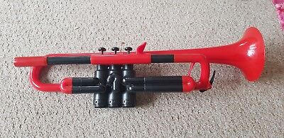 Red pTrumpet In Case With Mouthpiece