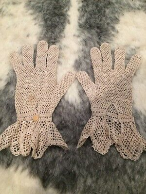 Lace Mesh Vinage Gloves For Small Hands