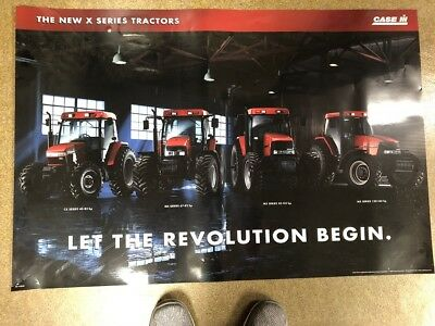 """Case IH 1998 X Series Tractor Dealer Poster Advertising 36"""" X 24"""" AE-278038"""