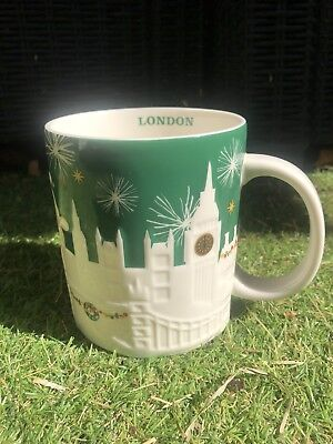 Tasse VERTE Mug STARBUCKS Reliefs LONDON Édition Limitée Winter