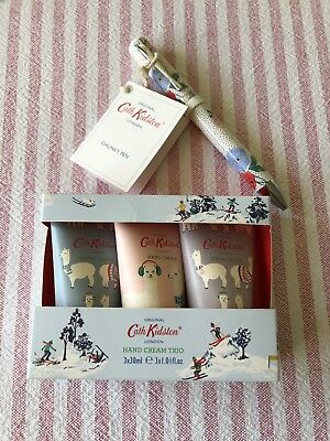 Cath Kidston Gift Set Chunky Pen And Hand Cream Trio Brand New