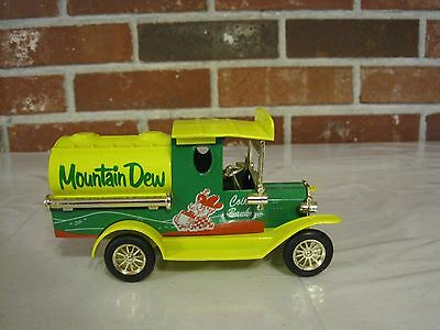 Golden Wheel Diecast Mountain Dew Coin Bank Truck