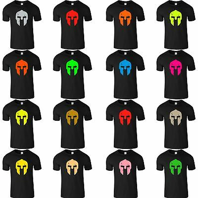 Spartan Mens Gym MMA T Shirt Fitness Training Workout Muscle Bodybuilding Top