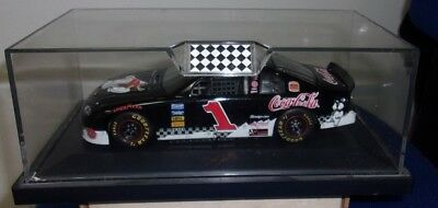 Dale Earnhardt Autographed 1/24 Scale #1 Coca-Cola Race Car In Display Case