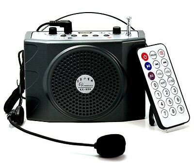 25W Portable Waistband Voice Booster PA Amplifier Loudspeaker FM With Microphone