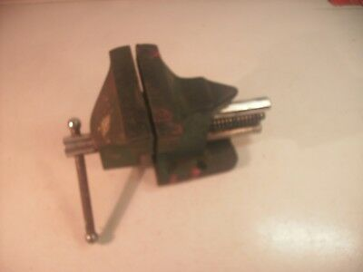 Small vintage portable bench vice