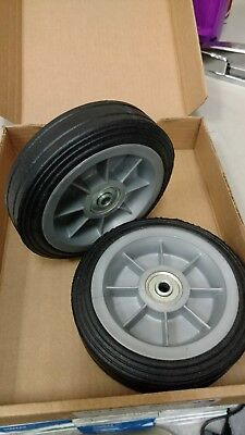 "2 pc  - 6"" Replacement Solid Hard Rubber Tire Wheel or Dolly Hand Cart"