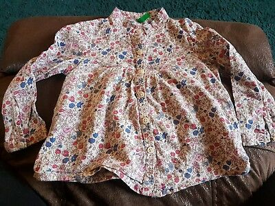 Baby Girls Floral United Colours Of Benetton Shirt Top 1 Year / 12 months