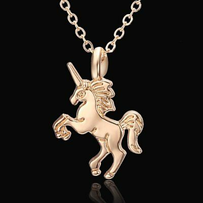 Fashion Lovely Gold Plated Horse Pendant Necklace Womens Jewellery Party Gift