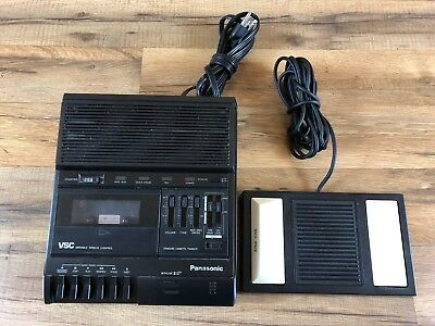 Panasonic RR-830 Cassette Transcriber Dictation w/ RP-2692 Foot Pedal Tested