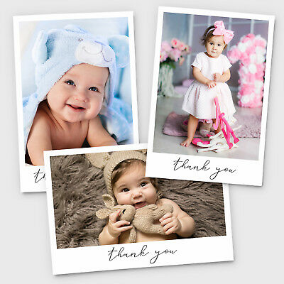 New Baby Thank You Cards Personalised Christening Birthday Girl or Boy (G1)