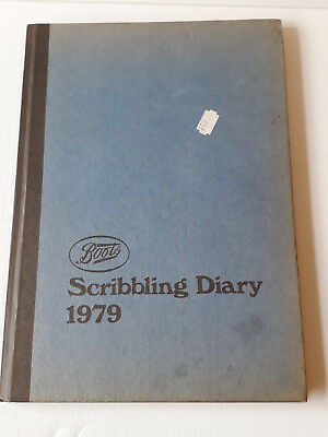 Vintage Boots the chemist  Scribbling Diary 1975