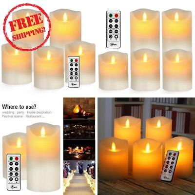 Aignis Flameless Candles, Battery Candles Realistic Moving Flame Set Of 5 (D3.25