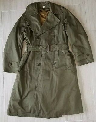 WW2 WWII US Army Officers OD7 Field Overcoat Trench Coat w Liner 35R Cutter Tags