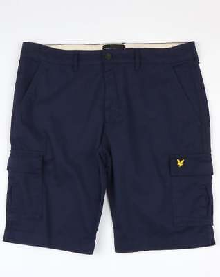 Lyle and Scott Cargo Shorts in Navy Blue - multi pocket cotton combat shorts