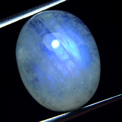 9.90 Ct 100%Natural white Blue Moonstone Cab Oval 16X12X6 mm Loose gemstone