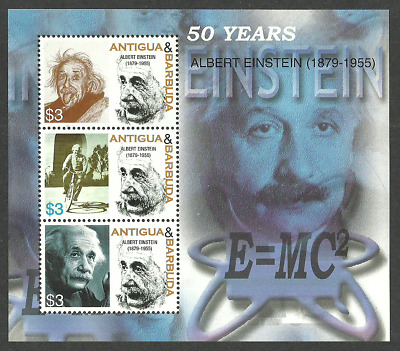 Antigua 2005 Einstein Maths Physics Science Cycling Bicycle Sheet Mnh