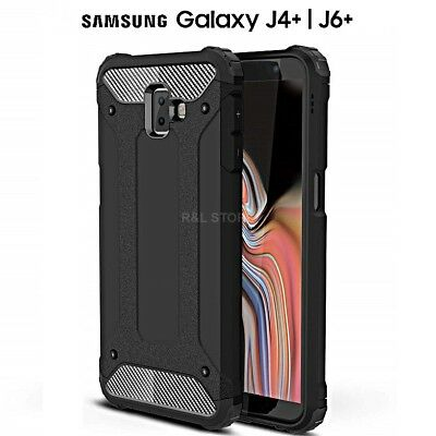 COVER per Samsung Galaxy J4+/J6+ PLUS ORIGINALE Hybrid Tough ARMOR RUGGED 360°
