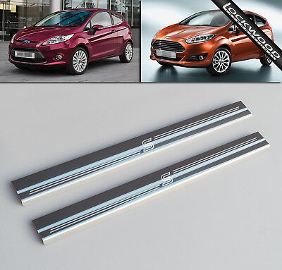 Ford Fiesta Mk7 Zetec S (2008-Early 2017) Stainless Sill Protectors/Kick Plates