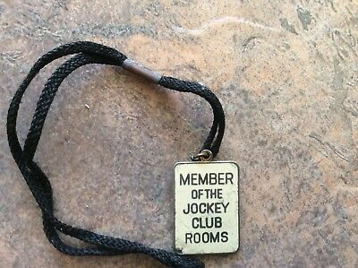 HORSE RACING BADGE,VINTAGE,MEMBER OF THE JOCKEY CLUB ROOMS. No 326
