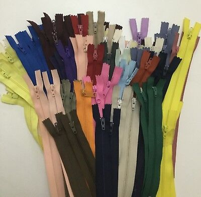 """Nylon Closed End Zips High Quality 7""""up to 22"""" Dress ect"""