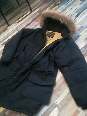 Woolrich gose down hooded coyote fur arctic mens parka size-M