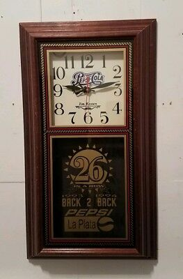 Vintage 1994 Pepsi-Cola Jim Keown Hanover Pendulum Clock ~ RARE ~ AS IS READ