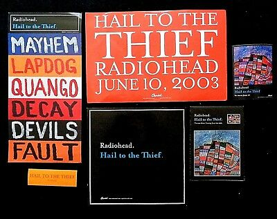 Radiohead HAIL TO THE THIEF, Merchandising Kit, 6 Pieces, Capitol PROMO (2003)