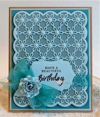 Greeting Card Cutting dies Flower Card for Cards and Stamps Scrapbooking Paper
