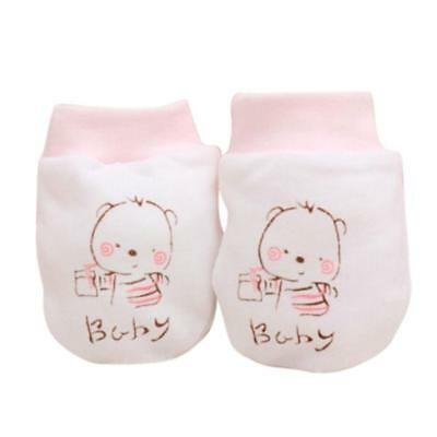 Lovely Baby Soft Anti Scratch Teething Mittens Gloves for Newborn Boys & Girls