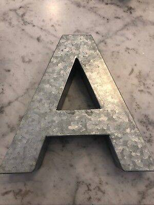 Pottery Barn Teen Kids A Galvanized Wall Letter New