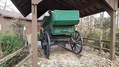 Horse Drawn 19th Century Grain Wagon Antique