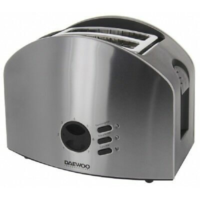 Daewoo 2 Slice Toaster Stainless Steel FOR 220 VOLTS ONLY EUROPE/AFRICA/ASIA