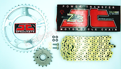 Suzuki GSX1300 Hayabusa  JT Z3 SUPER HEAVY Gold XRing Chain & JT Sprocket Kit