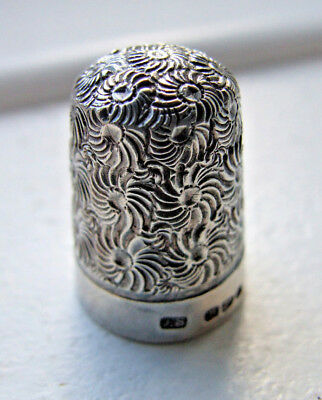 Hallmarked Silver Thimble, Chester, J.S, 1892