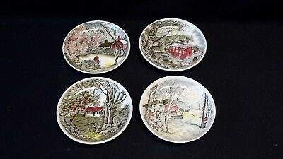Johnson Brothers Friendly Village Set of 4 Coasters