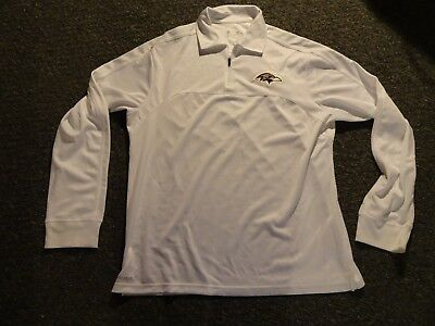 48cee64c5 Nike Baltimore Ravens - WHITE Dri-Fit Long Sleeve Shirt L ON FIELD  SRP90