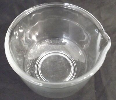 "Vintage Fire King Sunbeam Clear Glass Mixing Bowl with 7"" Diameter Pouring Spout"