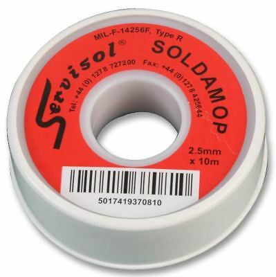 SERVISOL - Soldamop Red, 2.5MM X 10M