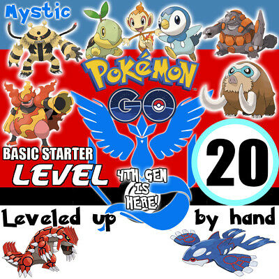 Pokemon-Go-Level 20 Account Hand Made! Kyogre Groudon Mystic Email Changeable