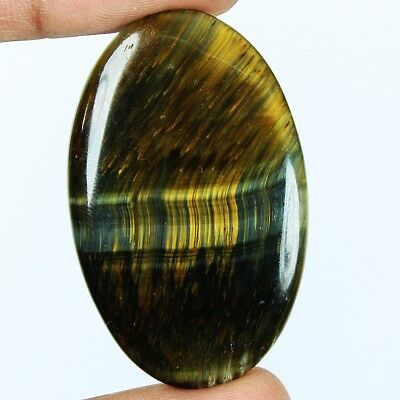 54ct Natural Premium Multi Fire Tiger Eye Oval Cab From South Africa GF32