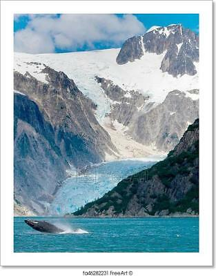 Humpback Whale Jumping Out Of Water In Art Print Home Decor Wall Art Poster - H