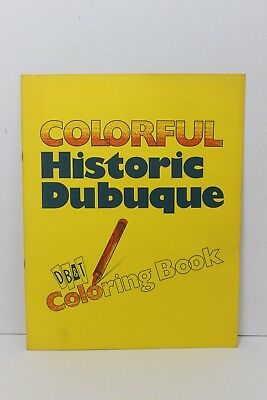 Vintage Colorful Historic Dubuque Coloring Book Dubuque Bank & Trust DB&T Iowa