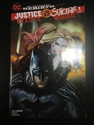 JUSTICE LEAGUE VS SUICIDE SQUAD #1 NM 9.4-9.6 Grade Ashley Witter AOD Variant