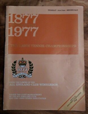 Collectacle 1977 Centenary Wimbledon Lawn Tennis Championships Programme- Day 2