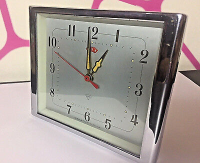 Vintage Mechanical Alarm Clock Diamond China Shanghai Rare Old Collectible
