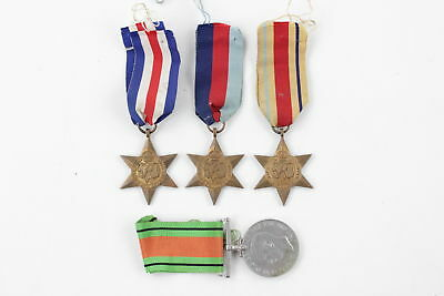 4 x Vintage WW.2 Campaign Medals Full Size Inc. 1939-45 Star & Defence Medal