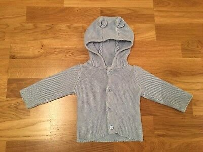 Early Days Baby Boy Blue Cardigan with hood And Ears- 0-3 Months